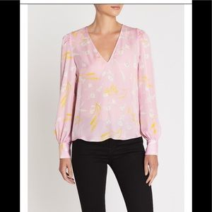 NWT Joie Lavender Rose Floral YADRA Top Size XS